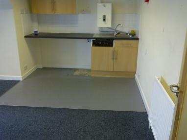 Empty kitchen space in office room